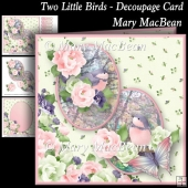 Two Little Birds - Decoupage Card