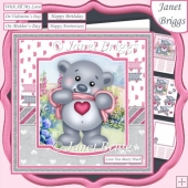 LOVE YOU BEARY MUCH 7.5 Decoupage & Insert Card Kit