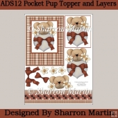 ADS12 Pocket Pup Topper with Decoupage