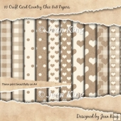 10 Craft Card Country Chic 8x8 Papers