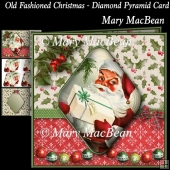 Old Fashioned Christmas - Diamond Pyramid Card