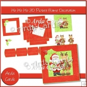 Ho Ho Ho 3D Picture Frame Decoration