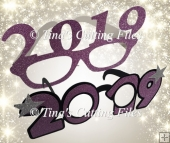 New Year 2019 Party Glasses - Photo Props 2 types