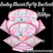 Sending Flowers Pop Up Box Card & Envelope