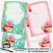 Cupcake Party - Stationeries 1