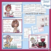 2021 UK Easy Fold Purse Calendars Funny Drinks