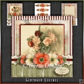 Vintage Birthday Flowers Card Kit 1044
