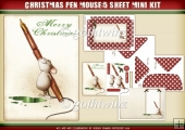 Pen Mouse Christmas 5 Sheet Mini Kit including Envelope