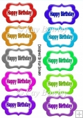 Happy Birthday tags in lots of colours