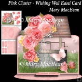 Pink Cluster - Wishing Well Easel Card