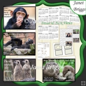 HUMOROUS WILD ANIMALS 2020 UK Easy Fold Purse Calendars