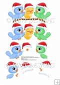 CUTE CHRISTMAS BIRDS STEP BY STEP DECOUPAGE SHEET