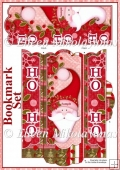 Jolly Santa Ho, Ho, Ho Bookmark Set