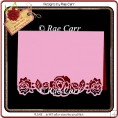 555 Rose Open Border Card *Multiple MACHINE Formats*