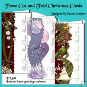 Three Cut and Fold Christmas Cards