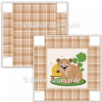 Honey Bear 02 5 x 5 Square Box
