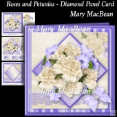 Roses and Petunias - Diamond Panel Card