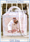 Feminine Chic Large Handled Gift Bag with Directions