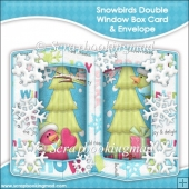 Snowbirds Double Window Box Card & Envelope