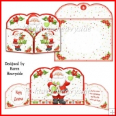 Hohoho Shaped Gatefold Card