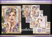 Art Deco Lady Emilia 4 Sheet Mini Kit Lilac