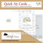 Quick A5 Christmas Card - Inner & Outer on A4