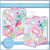 Beautiful Fairies Scalloped Gate Fold Card
