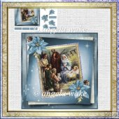 Baby Jesus in the stable card with decoupage