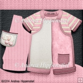 New Baby Romper Card pink