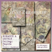 ROMANCE AND GRUNGE COLLAGE PAPERS