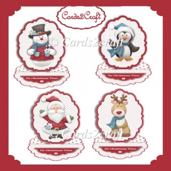 4 toppers and scalloped easel card set