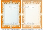 2 x A5 Orange (1) Lace Frames for Card Making & Scrapbooking