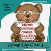 Message Bear 3 Single Clipart