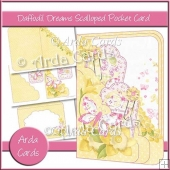 Daffodil Dreams Scalloped Pocket Card