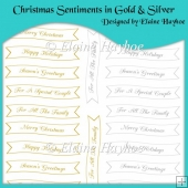 Christmas Sentiments in Gold & Silver
