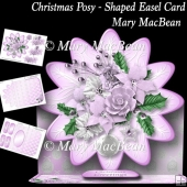 Christmas Posy - Shaped Easel Card