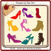 054 Shoe Fetish Diecuts *Multiple MACHINE Formats*