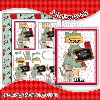 A Is For Apple PDF Decoupage Download