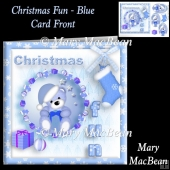 Christmas Fun Blue Card Front