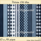 Backing Paper Pattern 106 blue