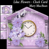 Lilac Flowers - Clock Card
