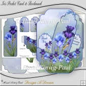 Iris Pocket Card & Bookmark