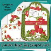 Candles Large Tag Shaped Card Kit