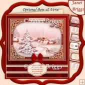 WINTER HAMLET CHRISTMAS SCENE 7.8 Quick Card & Insert