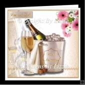 Anniversary Champagne Greetings Card