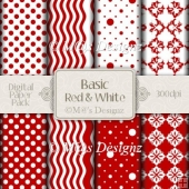 Basic Red and White Paper Pack