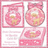 Pink Christmas 3D Bauble Card Kit