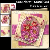 Exotic Flowers - Layered Card