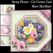 Spring Flowers - Cut Corners Card