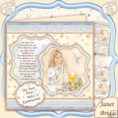 First Holy Communion Girl & Dove 8x8 Kit